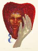 Serigrafi Besame mucho av Eva Zettervall.