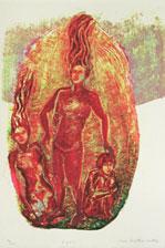 Serigrafi Eden av Eva Zettervall.