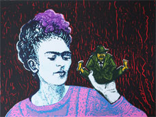 Frida and Diego - Silk-Screen by Eva Zettervall.