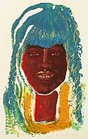 Nubian Princess - Silk-Screen by Eva Zettervall.