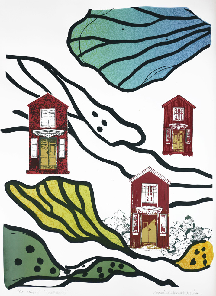 Home - Serigraph by Catharina Warme Hellström.