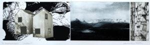 Islandica 2 - Photogravure/Silk-Screen by Catharina Warme Hellström.