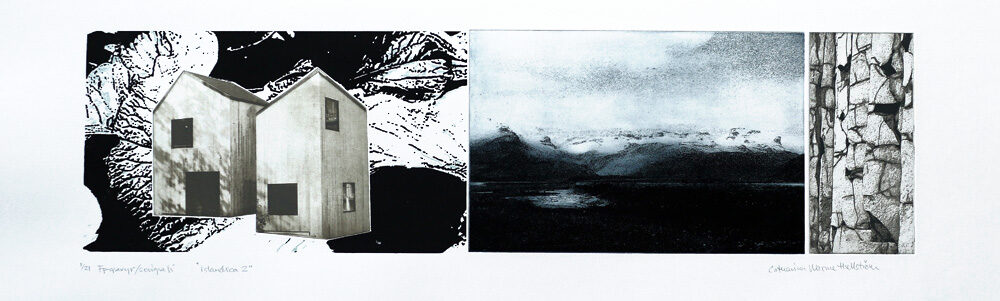 Islandica 2 - Photogravure/Serigraph by Catharina Warme Hellström.