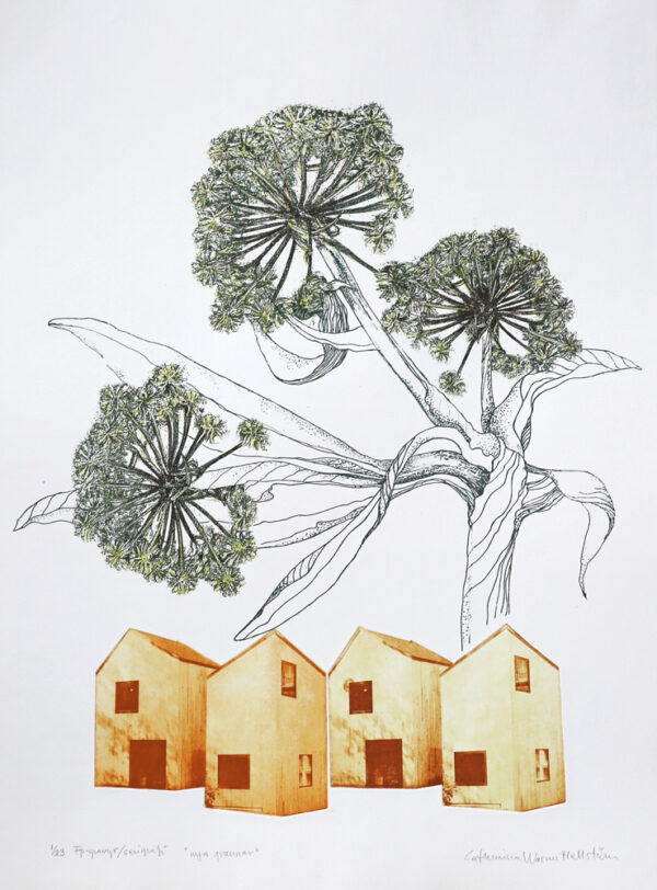 New Neighbours - Photogravure/Serigraph by Catharina Warme Hellström.