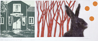 Summer Memories - Photogravure/Serigraph/Acrylic by Catharina Warme Hellström.