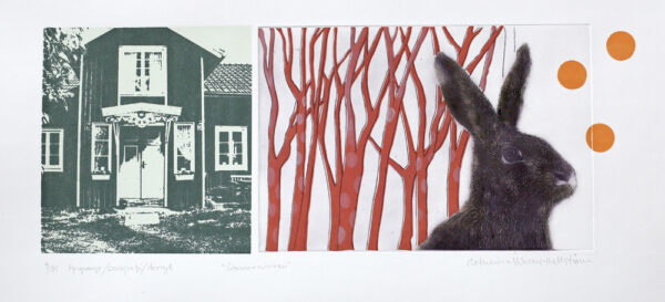 FP-gravyr/Serigrafi/Akryl Sommarminnen av Catharina Warme Hellström.