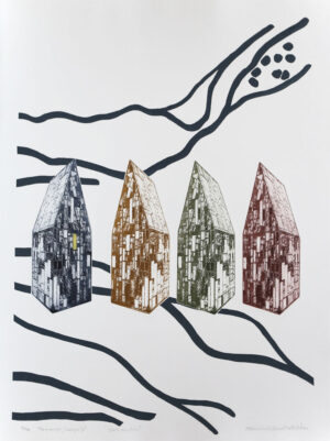 City of Glass - Photogravure/Serigraph by Catharina Warme Hellström.