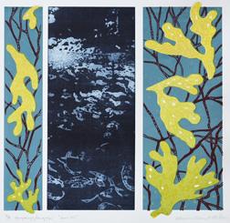 Fp-grafvyr/Serigrafi Stora blå av Catharina Warme Hellström