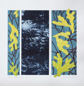 FP-gravyr/Serigrafi Stora blå av Catharina Warme Hellström.