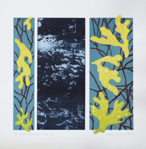 Big Blue - Photogravure/Serigraph by Catharina Warme Hellström