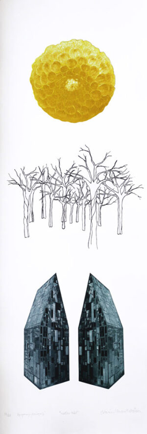 Under the Trees - Photogravure/Serigraph by Catharina Warme Hellström.