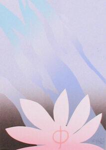 Serigrafi Lotus av Curt Hillfon.