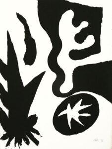 Serigrafi Svart/vit av Olle Kåks.
