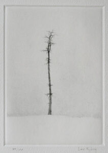 Solitaire - Drypoint by Lars Nyberg.
