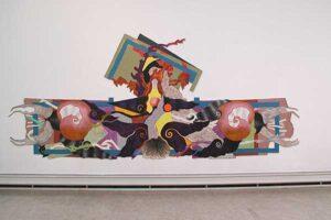 Konstverk av Olle Kåks i utställningen på Konstakademien 2002 i Stockholm.