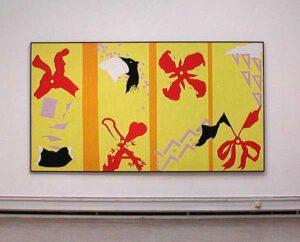Målning av Olle Kåks på utställningen på Konstakademien 2002.