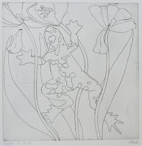 Session Frog - Engraving by Pontus Raud.
