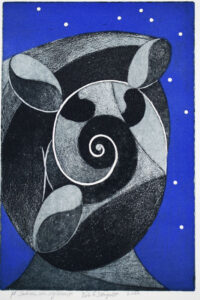 Shell and Starry Sky - Etching by Nils G Stenqvist.