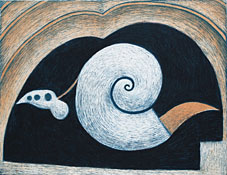 Shell with a Tongue - Lithograph by Nils G. Stenqvist.