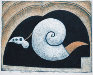 Shell with a Tongue - Lithograph by Nils G Stenqvist.