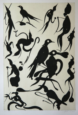 Birdlovers - Aquatint Etching by Dan Wirén.