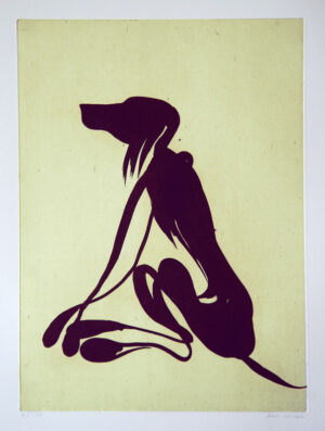 Dog - Aquatint Etching by Dan Wirén.