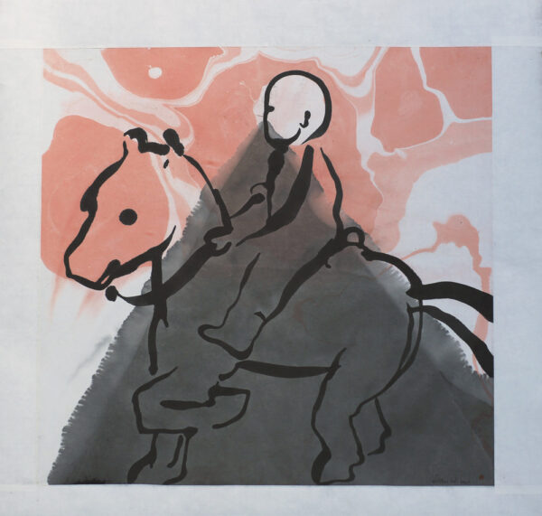 Rider - Painting, indian ink by Dan Wirén.