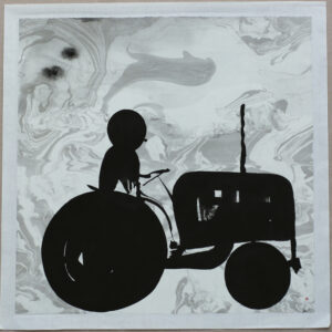 Tractor - Painting, indian ink by Dan Wirén.