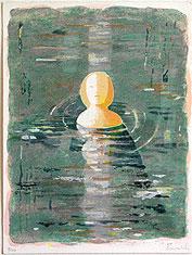 Serigrafi I vattnet av Ulf Gripenholm.