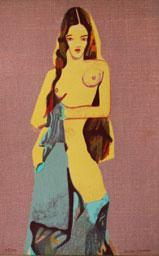 Serigrafi Sirena av Cecilia Sikström.