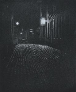 Mezzotint Kalisz av Mikael Kihlman.
