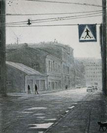 Torrnål - Katt i Kraków av Mikael Kihlman.