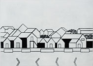 Village by the Sea - Drypoint by KG Nilson.