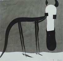 Horse - Painting (Indian ink) by Dan Wirén.