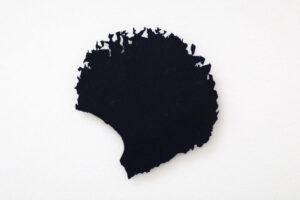 """""""Vortex"""", 1993, etsat fiberstål + akryl, konstverk av Curt Asker."""