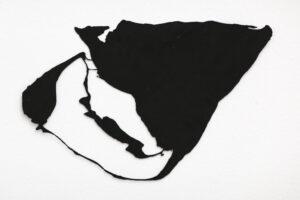 """""""Asfaltsblomma"""", 2001, etsat fiberstål + akryl - konstverk av Curt Asker."""