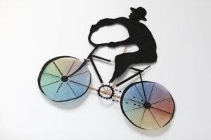 """""""Cyklist"""", 1974, kite, artwork by Curt Asker."""