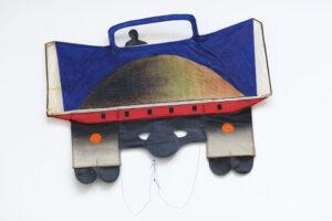 """Lastbil"", 1973, kite, artwork by Curt Asker."