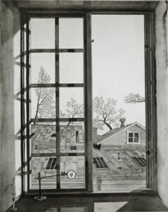 The Annexe - Etching by Mikael Wahrby.