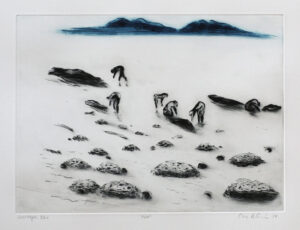 Low Tide - Drypoint by Lisa Andrén.