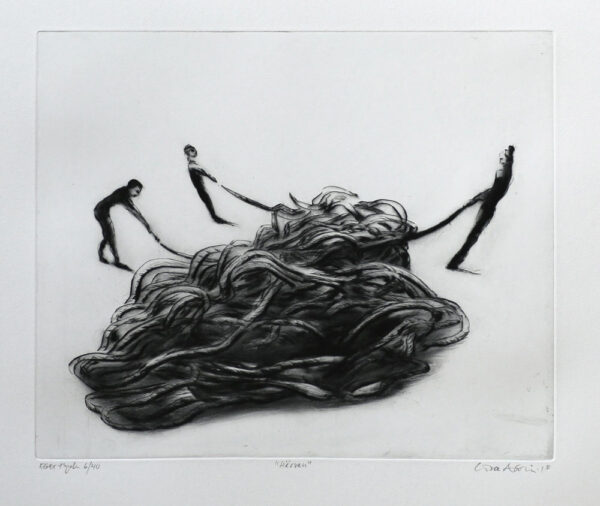 Tangle - Drypoint by Lisa Andrén.