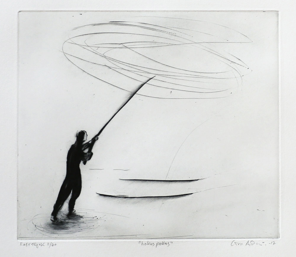 Hocus Pocus - Drypoint by Lisa Andrén.