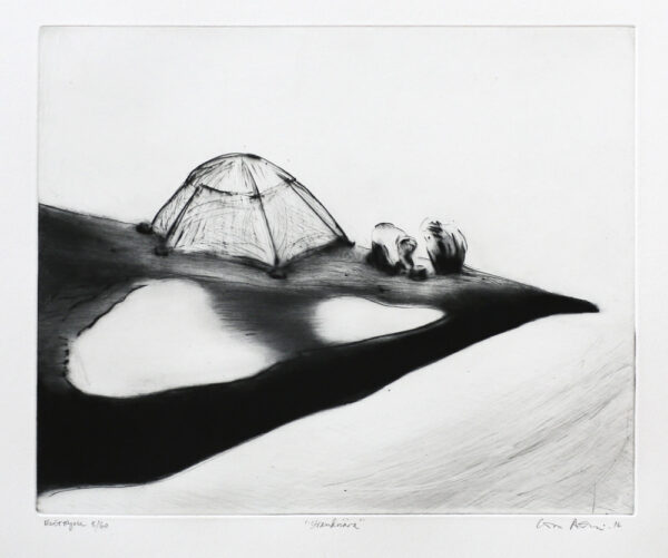 Waterfront - Drypoint by Lisa Andrén.