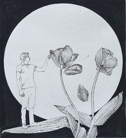 Etsning The Last Moon av Pontus Raud.