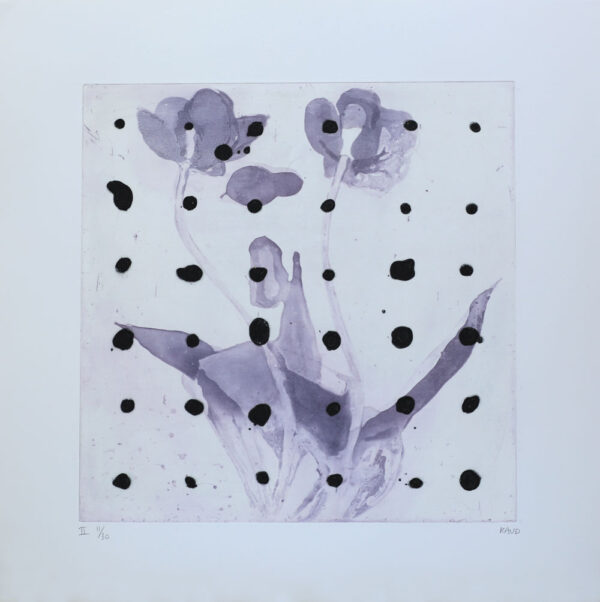 Purple Tulip II - Etching by Pontus Raud.