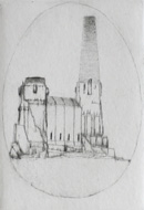 Power Plant - Drypoint by Lars Nyberg.