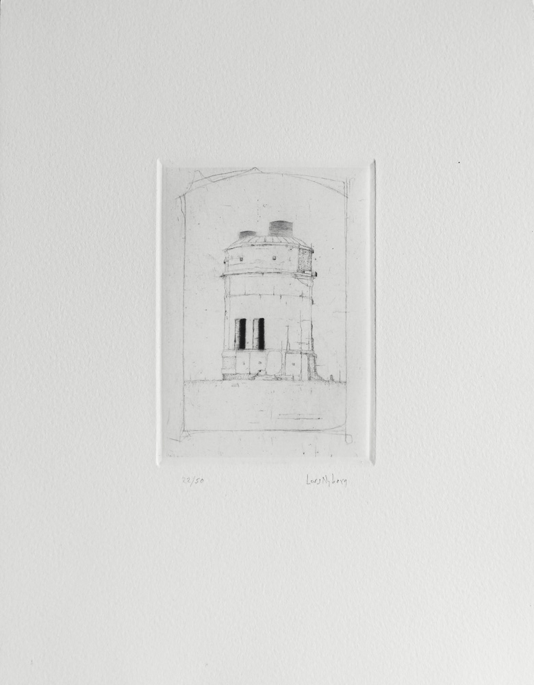 Furnace - Drypoint by Lars Nyberg.