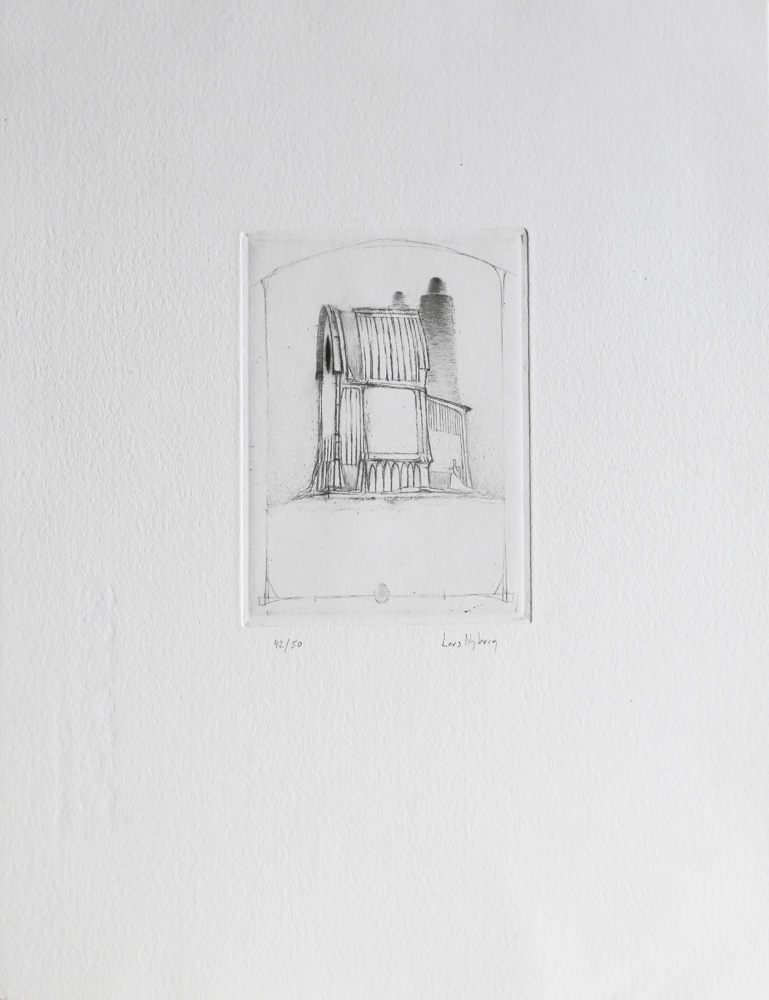 Turbine Hall - Drypoint by Lars Nyberg.