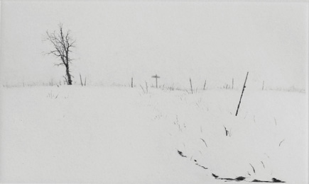 Winter Ditch - Drypoint by Lars Nyberg.