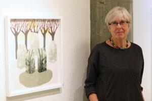 Catharina Warme ställer ut i Köpings konsthall 2020.